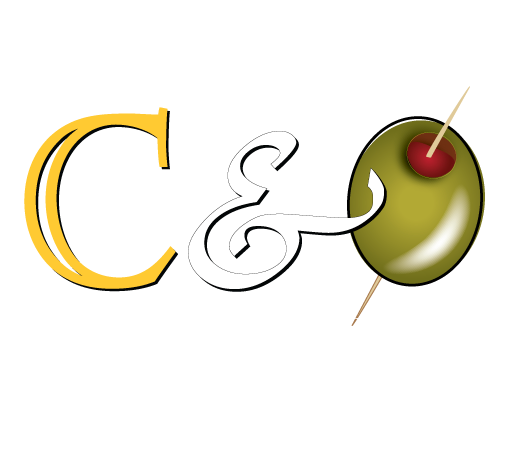 C&O Studio Shop Logo: cheese and olives