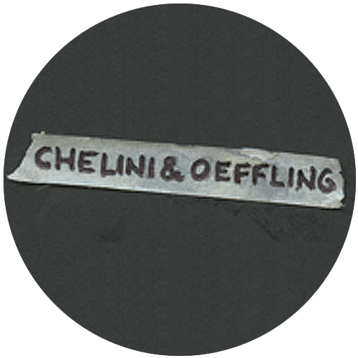life in this moment logo: chelini and oeffling on transparent tape